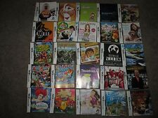 Nintendo DS Lot Of 25 Booklets - Final Fantasy - Mario Party DS & More