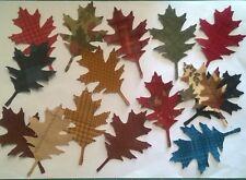 Petite Flannel Oak Leaves fabric Pack remnants patchwork bundle 100% cotton