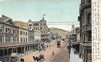 POSTCARD SOUTH AFRICA CAPE TOWN - STRAND STREET - ANIMATED SCENE  - CIRCA 1906