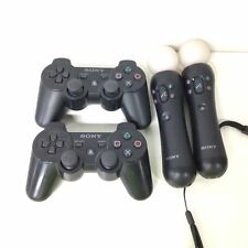 2 x Play Station 3 Wireless Controllers & 2 x Motion Controllers #323