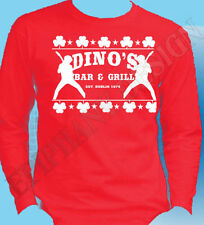 Thin Lizzy Dino's Bar Grill Mens Long Sleeve Red Medium ONE ONLY Special Offer