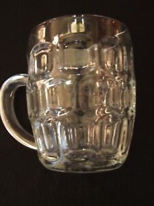 COLLECTORS TRADITIONAL DIMPLE PINT RETRO LAGER BEER MUG STEIN GLASS HANDLE