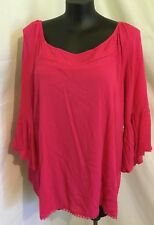 """Autograph Fuscia Pink """"peasant"""" Embroidered Top Sz 20-stock Just in"""