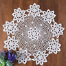 White Vintage Handmade Crochet Doily Round Lace Table Cloth Mats Doilies 60cm