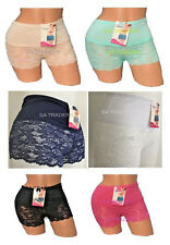 LADIES SEXY LACE BOXER SHORTS FRENCH KNICKERS WOMENS PANTS SIZES 10-18