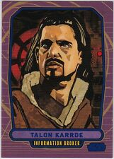 STAR WARS GALACTIC FILES SERIES 1 BLUE PARALLEL #201 TALON KARRDE 340/350