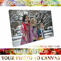 Quality Personalised Photo on Canvas Print Framed A0 A1 A2 A3 A4 Free Delivery