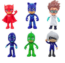 6/set Pj Masks Action Figure Characters Catboy Owlette Gekko Cloak Toys Doll Kit