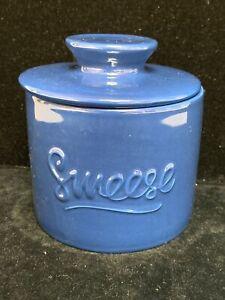 Sweese Porcelain Butter Keeper Crock Blue Bell Serving Dish (BB)