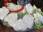 Vintage+Hand+Crocheted+Doilies+Mixed+Lot+of+9+Nice+Multicolor+Embroidered