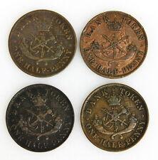 1850 1852 1857 Bank of Upper Canada Half Penny Tokens Very Fine Condition Coins