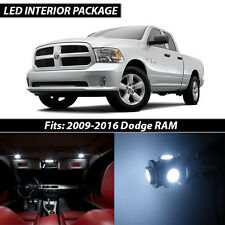 2009-2016 Dodge RAM 1500 2500 3500 White Interior LED Lights Package Kit