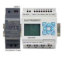 Plc Programmable Logic Controller Starter Kit Pc Software 24v Din Power Supply