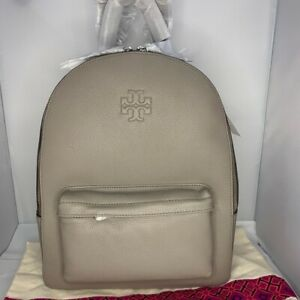 Tory Burch Thea Pebbled Leather Large Backpack Bag
