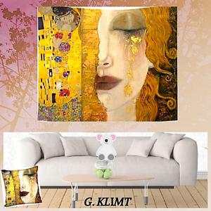 NEW Decor WALL Tapestry-drapery ART KLIMT Freya Gold Tears 2 Sizes Room & Living