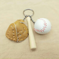 Special Mini Baseball Bat and Glove Ball Sports Fan Keychain Keyring