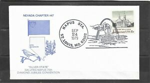 1979 Nevada Chapter #47 NAPUS Station Diamond Jubilee Event Cover, St. Louis, MO