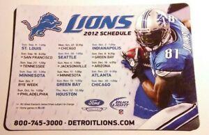 2012 Detroit Lions NFL Football Magnet Schedule Calvin Johnson