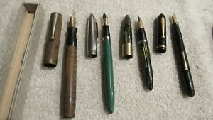 Packard,sheaffer Rite way  Some 14 K see pic's Mixed lot of 12