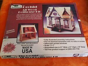Greenleaf The Orchid All Wood Dollhouse Craft Kit  21x21x14 New NIB