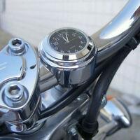 1pc Waterproof Motorcycle Motorbike Handlebar Mount Round Dial Clock Accessor SV