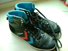 Mens Leather Trainers Lace Up size 12 - 46 Hummel Slimmer Stadil HighTop Unisex