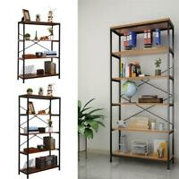 Tall Bookcase Shelves 3/4/5-Tier Display Rack Stand Storage Shelving THP