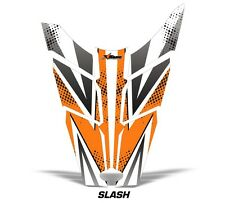 Sled Hood Graphics Kit Decal Sticker Wrap For Polaris Rush RMK 11-16 SLASH ORNG
