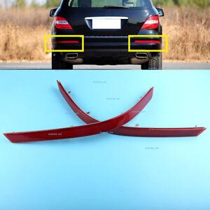 2Pcs Rear Bumper Reflector Red fit Mercedes Benz W251  R-Class R350 R280