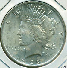 1922-P PEACE DOLLAR, NICE BRILLIANT UNCIRCULATED, GREAT PRICE!