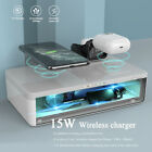 5in1 multifunctional disinfection box, 15W fast charging wireless charger,white