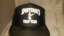 Vtg 1980's Sportman's Trap Team Black   Trucker Hat