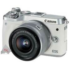 Canon EOS M6 24.2MP Mirrorless Digital Camera EF-M 15-45mm Lens White