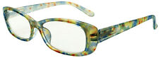 New retro reading glasses sprung arms silvery pastel frame and arms +1.5 Box AP