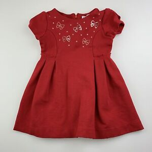 Girls size 2, Mayoral, red stretchy party dress, GUC