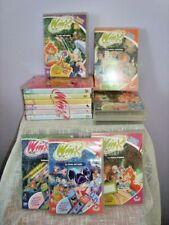 WINX CLUB DVD lotto 14 pezzi cartoni animati bambola doll bambolina fata toy