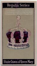 State Crown Of Queen Mary Crown Jewels 1920s  Trade Ad Card