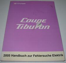 Werkstatthandbuch Elektrik Hyundai Coupe Tiburon Typ GK Baujahr 2002 - 2009 2005
