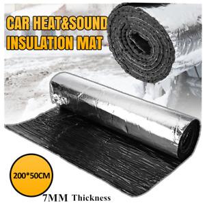 2x0.5mx7mm Car Engine Hood Heat Sound-Absorbing Pad Noise Shield Insulation Mat