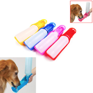 Pet Water Bottle Fountain Drinking 250ml Foldable Portable Travel Outdoor