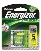 4/pack AAA Energizer Rechargeable NiMH Batteries AAA4 Recharge 1.2V