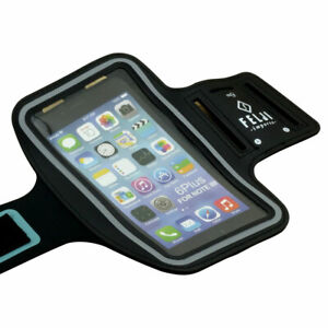 Large Sport Armband Case Bag for iPhone 7 8 Plus XR Samsung Galaxy, Black