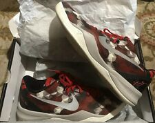 be2e2fcaae04 Nike Kobe 8 Milk Snake University Red Sail-Noble Red-Pearl Grey Size 13
