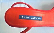 WOMENS DESIGNER RED STRAPPY SHOES HEELS - RALPH LAUREN  - SIZE 7 - WORN ONCE