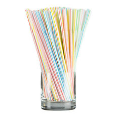 100PCS Disposable Drinking Juice Straw Tube For Home Party Etc.