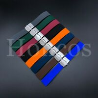18-24 MM Color Silicone Rubber Watch Band Strap Deployment Clasp Fits Seiko SKX