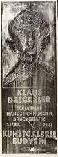 KLAUS DRECHSLER - AUSSTELLUNG - KUNSTGALERIE BAUTZEN - Holzschnitt 1980