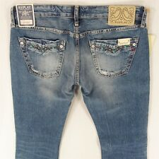 NEW Ladies Womens Replay W441 WENDIE Bootcut Blue Jeans W30 L34 BNWT UK Size 10