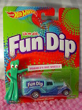 2016 Wonka Hot Wheels Fun Dip '34 DODGE DELIVERY☆Blue☆Real Riders☆Pop Culture