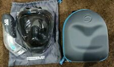 Wildhorn Seaview 180 V2 Full Face Snorkel Mask Medium Stealth w/ Case